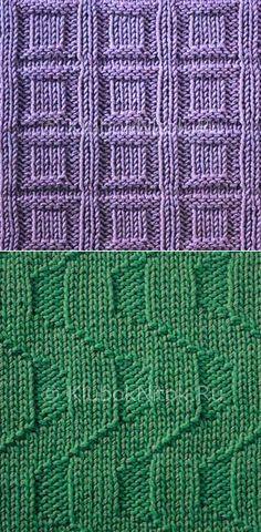 Простые узоры   Простые   Вязание спицами и крючком. Схемы вязания.