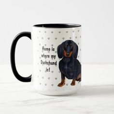 Home Is Where My Dachshund Is Dog Mom Dad Mug dachshund facts, dachshund dog, funny dachshund memes #dachshundslover #DachshundsThroughtNovember #dachshundsonintagram, back to school, aesthetic wallpaper, y2k fashion Dachshund Facts, Funny Dachshund, Dachshunds, Dad Mug, Dog Owners, Dog Mom, I Love Dogs, Mom And Dad, Favorite Color