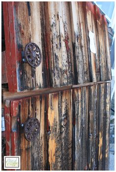 Old barn gates reclaimed. Ethical Village sells this stuff!!