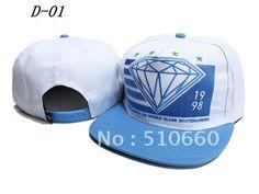 1pcs/lot Diamond Baseball Snapback hats/Caps blue/white on AliExpress.com. $8.88