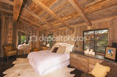 Google Image Result for http://static3.depositphotos.com/1007959/235/i/450/dep_2359195-Luxurious-Rustic-Log-Cabin-Bedroom-Interior.jpg