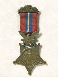 Christian Fleetwood's Medal of Honor. This Medal of Honor was awarded to Sergeant Major Christian Fleetwood, 4th U. S. Colored Troops, for heroism on the field of battle at Chaffin's Farm on 29 September 1864. Fleetwood seized the colors after 2 color bearers had been shot down, and bore them nobly through the fight. Fleetwood was 23 years old.