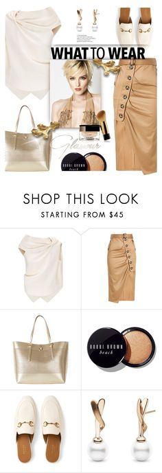 """""""lets do it"""" by omniaasaad ❤ liked on Polyvore featuring Roland Mouret, self-portrait, Karen Millen, Bobbi Brown Cosmetics and Gucci"""