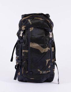 Woodland Khaki Counter Shade Backpack by Porter – Yoshida   Co Ltd – The  Bureau Belfast 68f47acf4c898