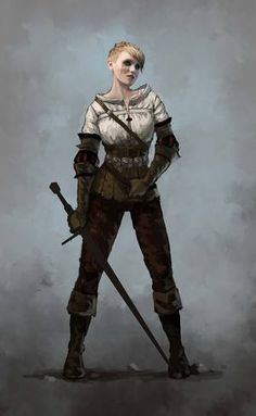 Alternate concept for Ciri from The Witcher 3: Wild Hunt
