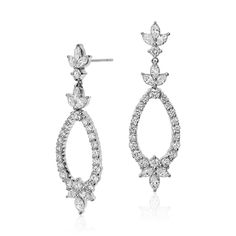 Monique Lhuillier Diamond Earrings Available Exclusively @BlueNile @platinumjewelry