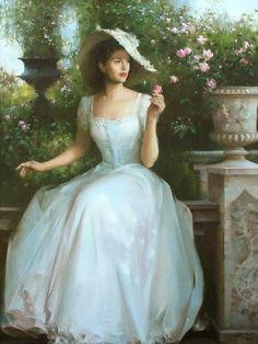 Romantic Paintings of Women by An He Romantic Paintings, Beautiful Paintings, Victorian Paintings, Victorian Artwork, Princess Aesthetic, Victorian Women, Victorian Era, Classical Art, Renaissance Art