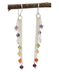 Sterling Silver Chakra Cascade Earrings