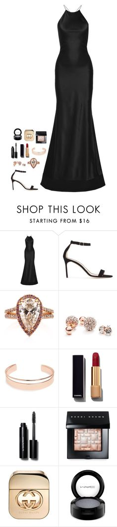 """""""Untitled #433"""" by h1234l on Polyvore featuring Calvin Klein Collection, Manolo Blahnik, Mark Broumand, GUESS, Leith, Chanel, Bobbi Brown Cosmetics, Gucci and MAC Cosmetics"""