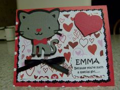 Valentine using Cricut Create A Critter cartridge
