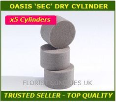 5 x OASIS SEC ROUND CYLINDER FLORIST DRY SILK WEDDING FLOWERS FLORAL FOAM 2008 | eBay