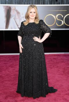 Adele at the 2013 Oscars.  Loved her look!