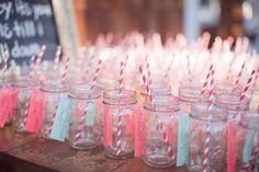 mason jars with name tags,