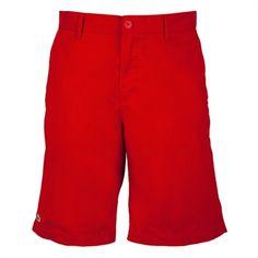 Lacoste Mens Contemporary Classic Bermuda Short #VonMaur #Lacoste #Red #Shorts #Mens