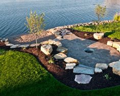 34 Perfect Lakefront Property Landscaping Ideas Among the most well-known ideas is using fountains. There are various design ideas. Beach Landscape, House Landscape, Garden Landscape Design, Landscape Edging, Landscape Diagram, Western Landscape, Spring Landscape, Landscape Fabric, Lake Landscaping