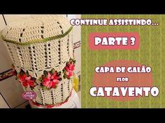 PAP Capa de galão Flor Catavento - Parte 2 - JNY Crochê - YouTube