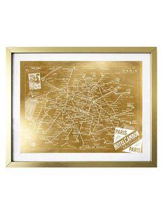 OG Signature Collection San Francisco Map Framed Fashion Home