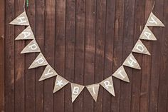 HAPPY BIRTHDAY Bunting - Vintage Handmade Decoration Burlap / Hessian Bunting Shabby Chic Rustic Banner Celebration
