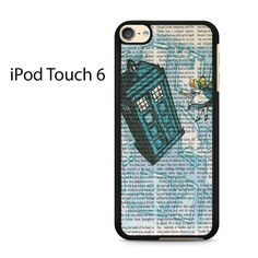 Alice In Wonderland, Tardis Doctor Who Ipod Touch 6 Case