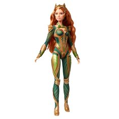 Little adventurers can imaging helping the great undersea warrior protect the oceans with this Barbie® DC Comics Justice League Mera Doll! Mattel Barbie, Barbie Go, Barbie Dolls, Barbie Life, Dolls Dolls, Felt Dolls, Barbie Clothes, Mera Dc Comics, Fashion Models