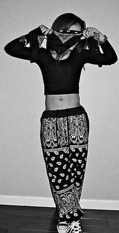 Bandana Print T Shirt Snapback Cateye Swag Dope Hip