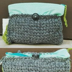 Small bag. Fabric and croche.