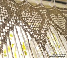 Cool & Curly Crochet Curtain Pattern (inspiration only - no pattern)