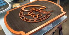 copper letters on ivory sign | featured sign read more sign products sandblasted signs product ...