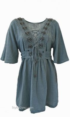 Fern Shirt Dress In Blue