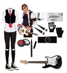 """""""Frank iero revenge cosplay"""" by shamsydesigns ❤ liked on Polyvore featuring Steffen Schraut, Converse, AG Adriano Goldschmied, Manic Panic and Bobbi Brown Cosmetics"""