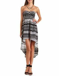 zip-front hi-low aztec dress