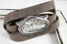Silver Ladies Watch Inspired By Salvador Dali  by Galis2014, $76.00
