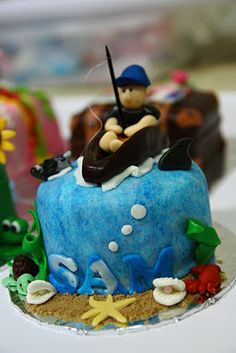 Life is too short, Eat Desserts: Fishing Themed Cake