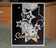 Handmade Graduation Card 4.25 x 5.5 Die-Cut by WhimsyArtCards