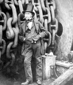 Isambard Kingdom Brunel, FRS (9 April 1806 – 15 September 1859). Engineer The Great Briton of his time and inspirational still.
