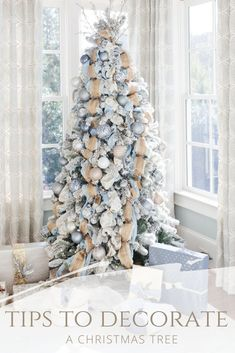Tips to decorate a Christmas Tree! Easy ways to make decorating your Christmas tree look better and how to store a Christmas tree so it's easier to set up next year! Quick ways to make your Christmas tree look more professional!