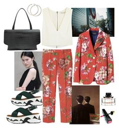 """""""work"""" by syarina ❤ liked on Polyvore featuring Victoria's Secret, Alice + Olivia, Marni, Maison Margiela and Gucci"""