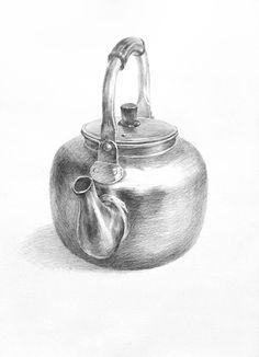 달과 6펜스 (1번출구 미술학원) :: [기초 정물소묘 / 과정작] 양은주전자 (노란 주전자) Painting Photos, Art Sketchbook, Pencil Drawings Easy, Still Life Art, Geometric Shapes Art, Object Drawing, Art Collage Wall, Art Drawings Sketches Pencil, Pencil Art Drawings