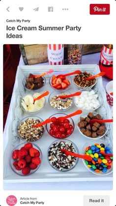 Yummy toppings at an Ice Cream Summer Party! See more party planning ideas at C. Yummy toppings at an Ice Cream Summer Party! See more party planning ideas at C. - 32 Amazing Garden Party Ideas You Need To Try Right Now Summer Pool Party, Summer Parties, Summer Bday Party Ideas, Pool Parties, Kid Parties, Pyjamas Party, Ice Cream Social, Festa Party, Snacks Für Party