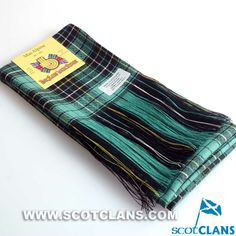 Clan MacAlpine Ancient Tartan Wool Sash