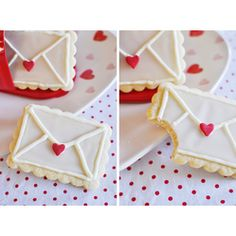 Love Letter Cookies  #Valentine's #Day #Cookies