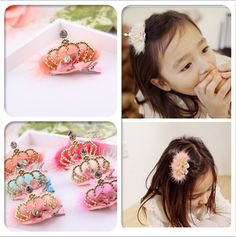 2015 New Arrival high quolity Tiaras hairpins with natural cony hair crystal metal crown hair clips for baby Wholesale Hair Accessories, Accessories Store, Kids Girls, Little Girls, Little Girl Pictures, Feather Crown, Metal Crown, Baby Princess, Crown Hairstyles