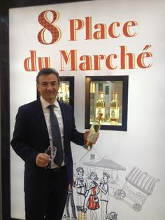 Jérome Tessendier and his new 8 Place du Marché Semi Sweet @ Prowein 2016