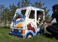 Cool cardboard ice cream truck for kids