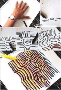 Art - Dessin : Lorsque j'étais petite, nous dessinions le contour de notre main... aujourd'hui, je vous propose de faire la même chose mais en bien mieux.... Voyez plutôt :) En changeant de ...