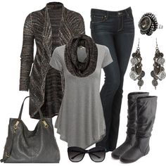 Casual Outfit - simple tones of gray