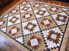 """Текстиль, ковры ручной работы. Ярмарка Мастеров - ручная работа. Купить Покрывало лоскутное стеганое. """"Корица""""  Пэчворк Квилтинг. Handmade."""