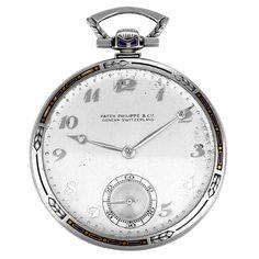 Rare Vintage Patek Philippe Platinum Art Deco Pocket Watch