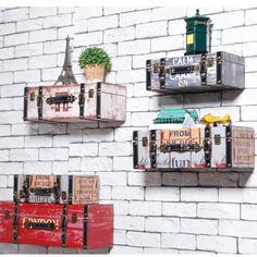 Декоративные Настенные Полки Ретро Бар Кафе Магазин Окна Стены Творческая Настенные Полки Магазина Одежды…