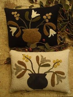 Beautiful Wool Applique   ... Wanderings.... Patty is such a sweety & does some beautiful applique